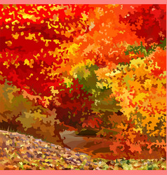 Background abstraction bright colorful deciduous vector