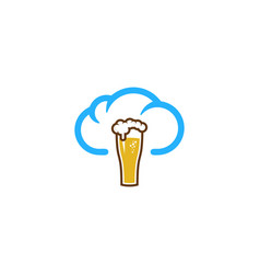 beer weather and season logo icon design vector image