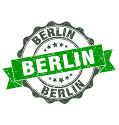 Berlin round ribbon seal vector