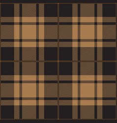 Black and beige tartan plaid seamless pattern vector