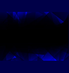 Blue facet side abstract dark background vector