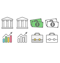 Business and financial icons pack vector