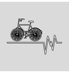 Bycicle icon sport design graphic vector