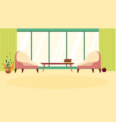 Cartoon cozy comfort waiting room or rest zone vector