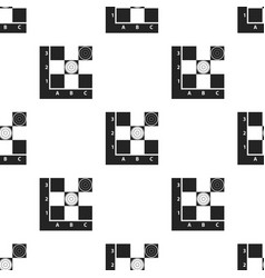 checkers icon in black style isolated on white vector image