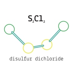 Cl2S2 disulfur dichloride molecule vector