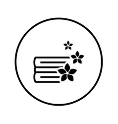 clean fragrant linen laundry washing icon thin vector image