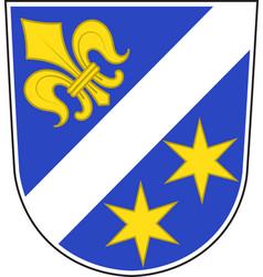 Coat of arms of dillingen town in swabia bavaria vector
