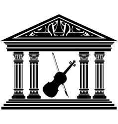 concert hall vector image