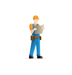 construction worker character vector image