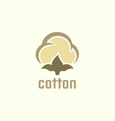 cotton isolated icon or logo concept vector image