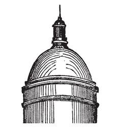 Cupol edifice vintage engraving vector