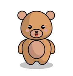 Cute bear kawaii style vector