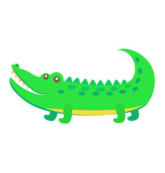 cute crocodile cartoon flat sticker or icon vector image