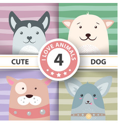 cute funny pretty dog characters vector image