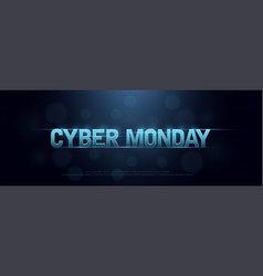 cyber monday sale logo technology design concept vector image