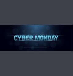cyber monday sale logo technology design concept vector image