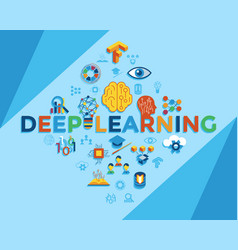 digital deep learning vector image