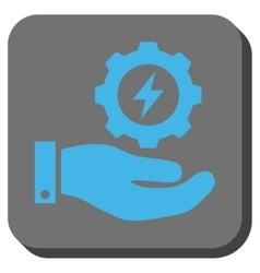 Electricity Gear Service Hand Rounded Square vector