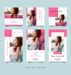 fashion social media promotion design vector image