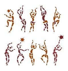 Figures african dancers vector