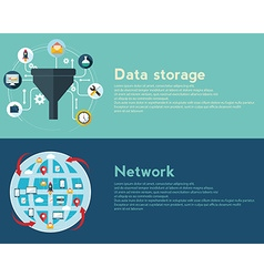 Flat design concepts for creative process big data vector image