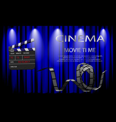 for the film industry elements of the film vector image