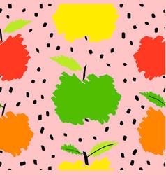 Fresh apple fruit seamless pattern abstract vector