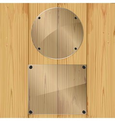 glass on a planks vector image