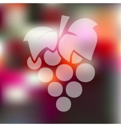 Grapes icon on blurred background vector