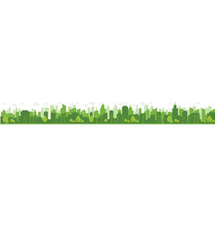 green cities help world with eco-friendly vector image