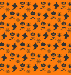 halloween orange festive seamless pattern endless vector image