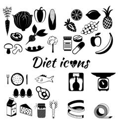 Healthy lifestyle a healthy diet and daily vector image