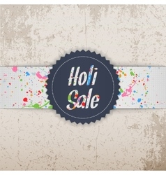 Holi Sale Festival Banner with Splashes of Paint vector