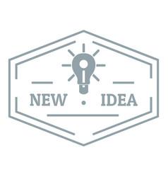 idea logo simple gray style vector image