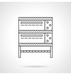 Industrial oven thin line icon vector image