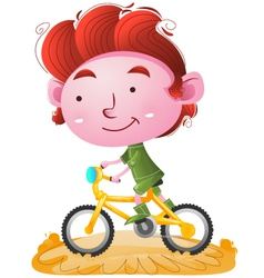 Kids Riding bike vector image