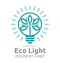 Lamp eco light bulb design icon vector