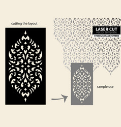 Laser cut pattern stencil vector