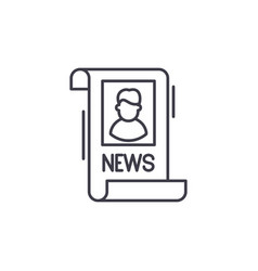 latest news line icon concept latest news vector image