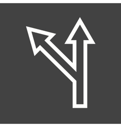 Left Turn Ahead vector image