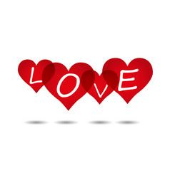 love heart backgrounds vector image