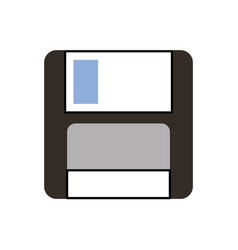 Magnetic floppy disc icon for computer data vector