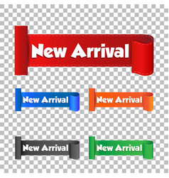 new arrival sticker label on isolated background vector image