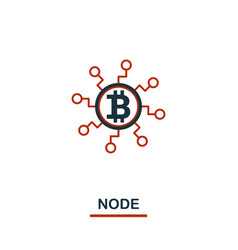 node icon creative two colors design from crypto vector image