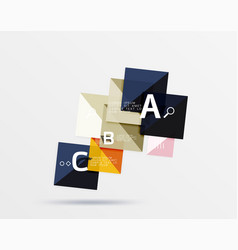 overlapping square infographics vector image