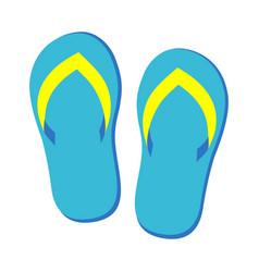 pair flip flops vector image