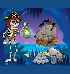 Pirate cove theme image 6 vector