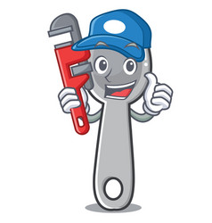 plumber spoon character cartoon style vector image