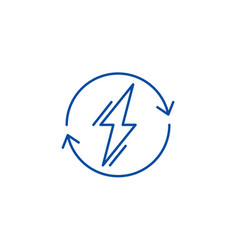Power usage line icon concept power usage flat vector
